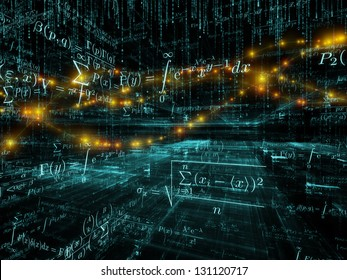 Mathematical Formula series. Artistic background made of mathematical formulas and design elements in perspective for use with projects on business, science, education and technology