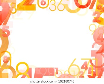 Mathematical frame with random color numbers