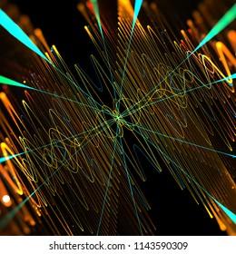 mathematics, physic, quantum, wave, particle, data , visualisation, . 3d illustration