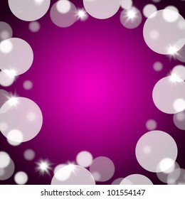 Mauve Bokeh Background With Blank Copy Space And Full Borders