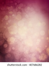 mauve and burgundy pink with violet purple wine colors in bokeh blurred background, elegant luxury background with floating bubbles or round circle shapes shining in the sunset sky light