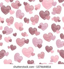 Mauve and pink heart jpeg design.