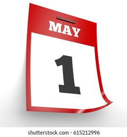 May 1. Calendar on white background. 3D illustration.