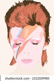 "MAY 19, 2014 - BERLIN: impressions from the ""David Bowie"" exhibition in the Martin Gropius-Bau, Berlin-Tiergarten. - illustration"