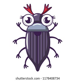 May bug icon. Cartoon illustration of may bug icon for web
