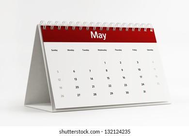 Desktop Calendar 2018 On Page January Stock Photo (Edit Now