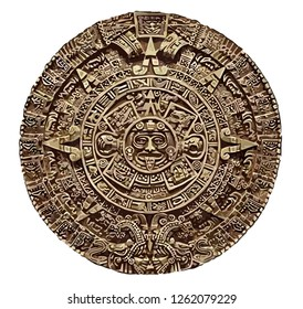 maya civilization  aztec calendar astronomy tribal ancient rock illustration