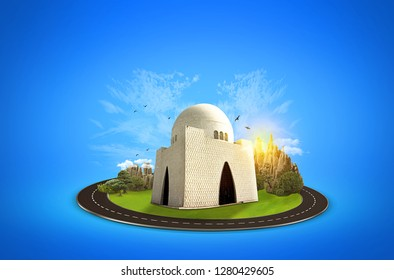 Mazar e Quaid. Celebration Card. Creative a beautiful background manipulation for Independence and Pakistan day