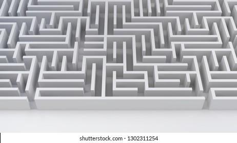 maze business challenge risk and decision labyrinth 3D illustration