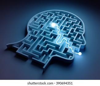 Maze inside a head - from brain to speech