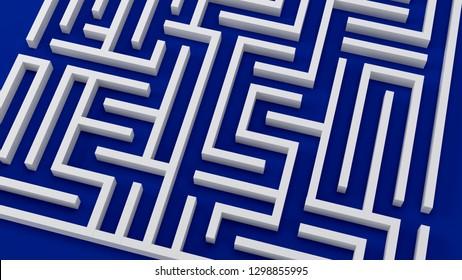 maze strategy challenge business problem 3D illustration