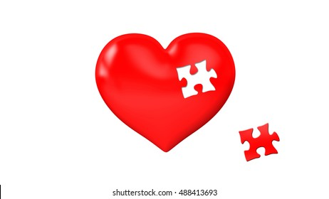Me and you heart and puzzle piece