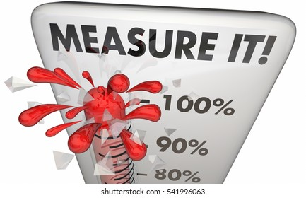 Measure It Thermometer Metrics Great Result Outcome 3d Illustration