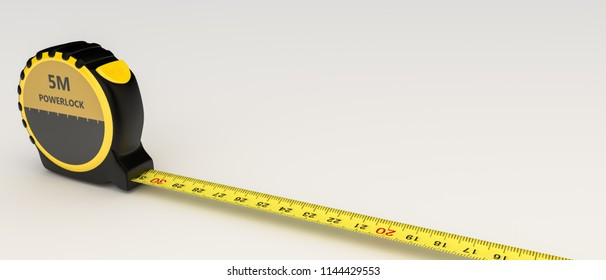 measuring tape isolated on white background 3d illustration