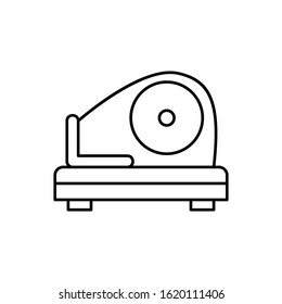 Meat slicer, meat icon. Simple line, outline batcher icons for ui and ux, website or mobile application