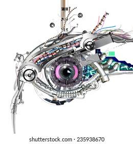 Mechanical eye in direct eye contac