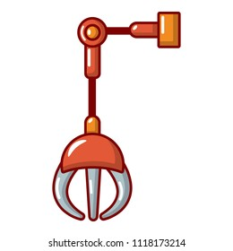 Mechanical grabber icon. Cartoon illustration of mechanical grabber icon for web.