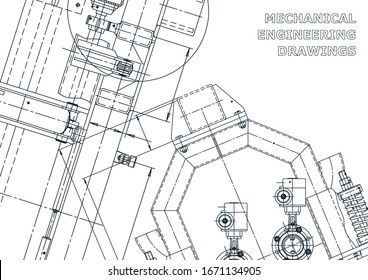 Mechanical instrument making. Technical abstract backgrounds. Technical illustration, cover, banner