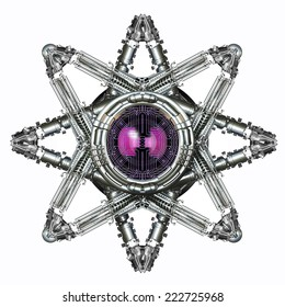 Mechanical star with an eye in the center