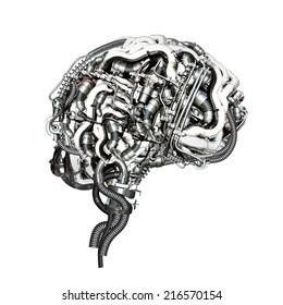An Mechanical super brain in cross section