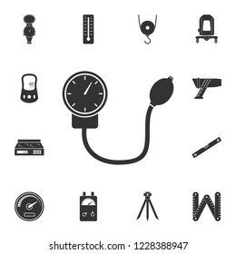 Mechanical Tonometer icon. Simple element illustration. Mechanical Tonometer symbol design from Measuring collection set. Can be used in web and mobile