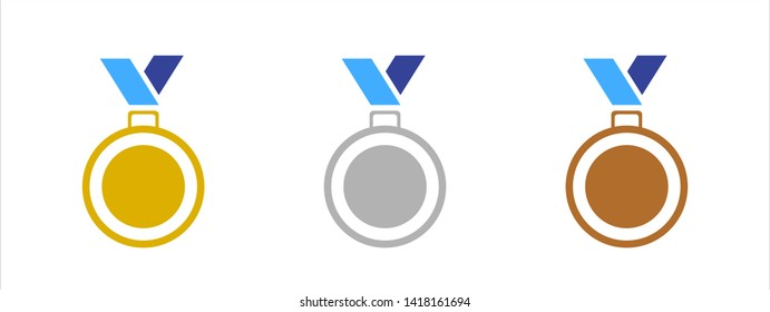 Medal Icon.Symbol for your web site design