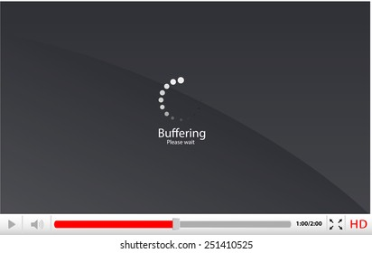 Media player with loading/buffering icon