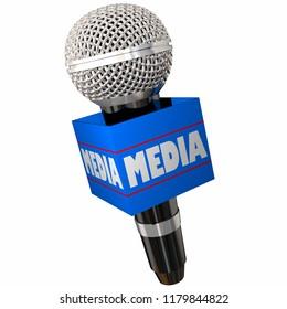 Media Press Reporter Interview Microphone 3d Illustration