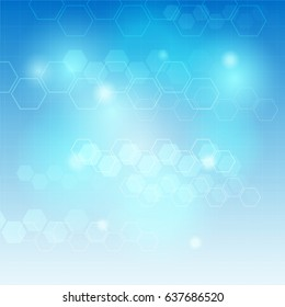 Medical abstract background. Vector Illustration
