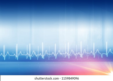 Medical abstract heartbeat background with lens flare, suitable for health care and medical topic