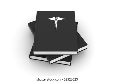 Medical book with logo