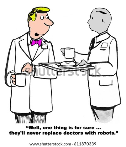 Medical Cartoon About Doctor Who Cannot Stock Illustration 611870339
