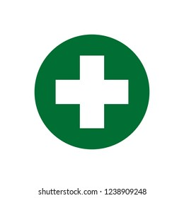 Medical cross icon. Medicinal and pharmacy sign.