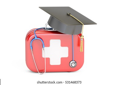 Medical education concept. 3D rendering isolated on white background