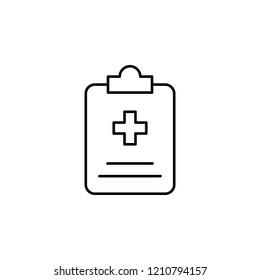 medical history icon. Element of medicine for mobile concept and web apps icon. Thin line icon for website design and development, app development. Premium icon