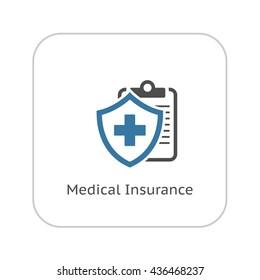Medical Insurance Icon. Flat Design Isolated Illustration.