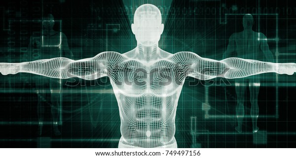 Medical Scan System and Body Screening Checkup 3D Render