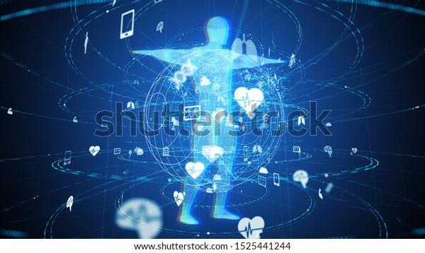 Medical technology concept.  3D rendering.