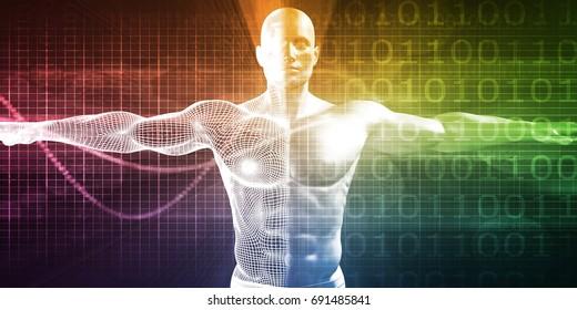 Medical Technology Software as a Background Art 3D Illustration Render