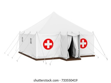 Medical Tent Isolated. 3D rendering