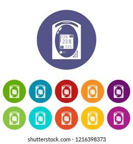 Medical tonometer icon. Simple illustration of medical tonometer icon for web