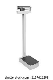 Medical Weight Scales Isolated. 3D rendering