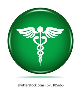 medicine icon. Internet button.3d illustration.