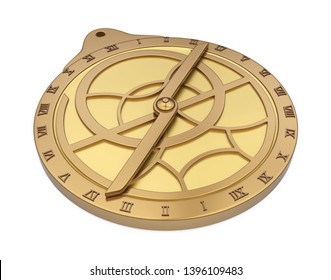 Medieval Astrolabe Isolated. 3D rendering