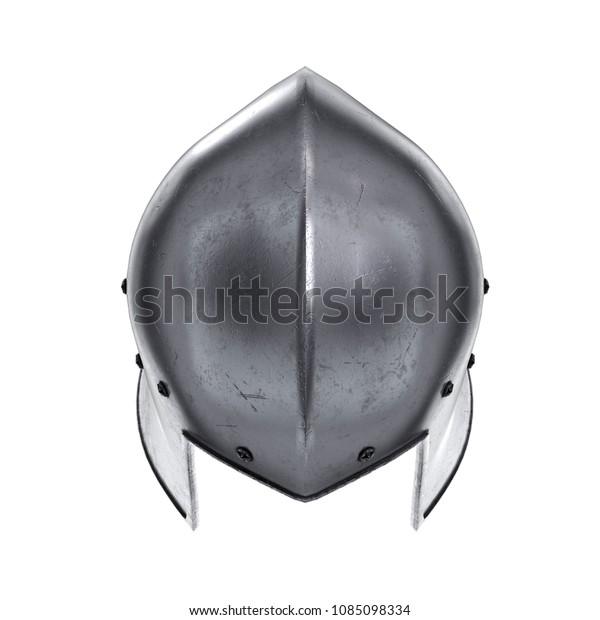 Medieval Knight Barbute Helmet Top View Stock Illustration 1085098334