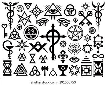 Medieval Occult Signs And Magic Stamps, Locks, Knots (with Additions).