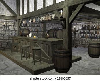 Medieval Tavern Bar