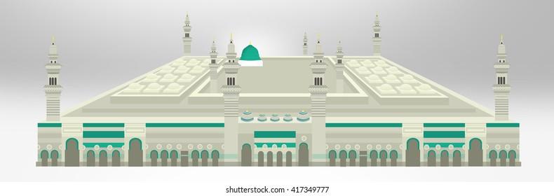 Medinah mosque photo manipulation - Saudi Arabia Green Dome of Prophet Muhammad