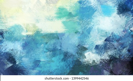 medium aqua marine, beige and dark slate gray color painted vintage background. brush strokes illustration can be used for wallpaper, cards, poster or creative fasion design elements.