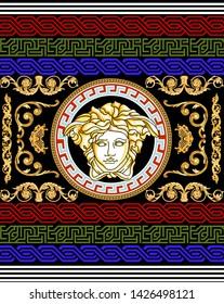 Medusa head gold baroque ethnic bandana